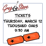 9:30AM - Thurs, March 12 TICKETS