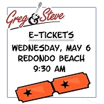 9:30AM - Weds, May 8   E-TICKETS