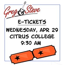 9:30AM - Weds, April 29  E-TICKETS