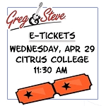 11:30AM - Weds, April 29   E-TICKETS