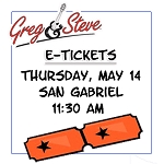 11:30AM - Thurs, May 14   E-TICKETS