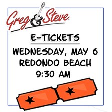 9:30AM - Weds, May 6   E-TICKETS
