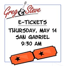 9:30AM - Thursday, May 14  E-TICKETS